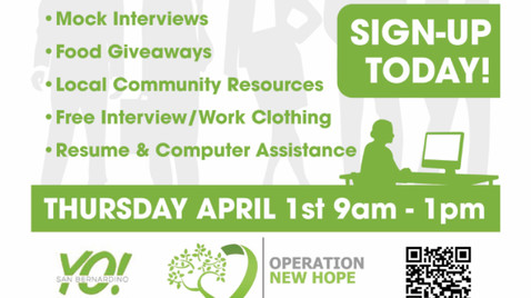 Job Fair April 1, 2021 Hosted by Operation New Hope