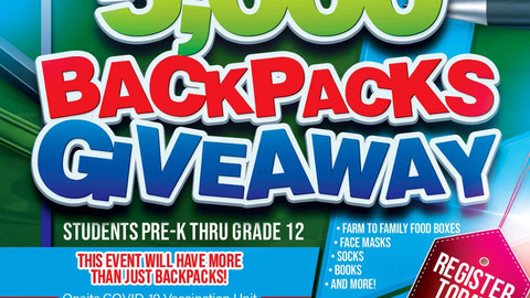 Backpack Giveaway Hosted by Supervisor Joe Baca Jr. - There's still time to register!