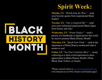 Black History Month Spirit Week!