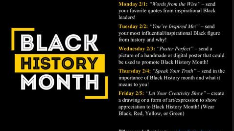 Black History Month Spirit Week!