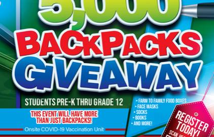 Backpack Giveaway Hosted by Supervisor Joe Baca Jr.