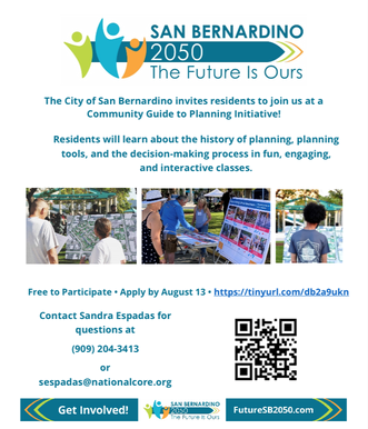 Learning Opportunities Sponsored by the City of San Bernardino