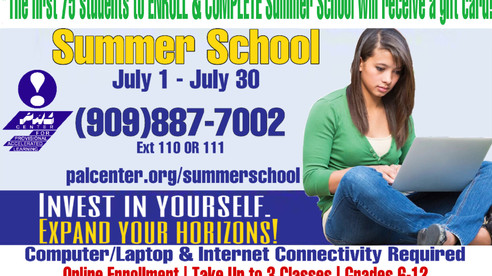 July 2021 Summer School - Limited Space Available so CALL TODAY!