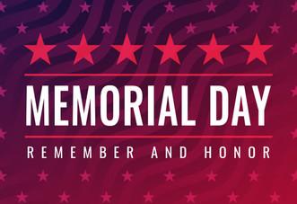 Memorial Day - No School 5/31/2021