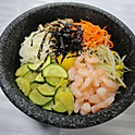 R5. 새우 돌솥비빔밥 Shrimp Stone Bowl Bibimbab (蝦仁石鍋拌飯)