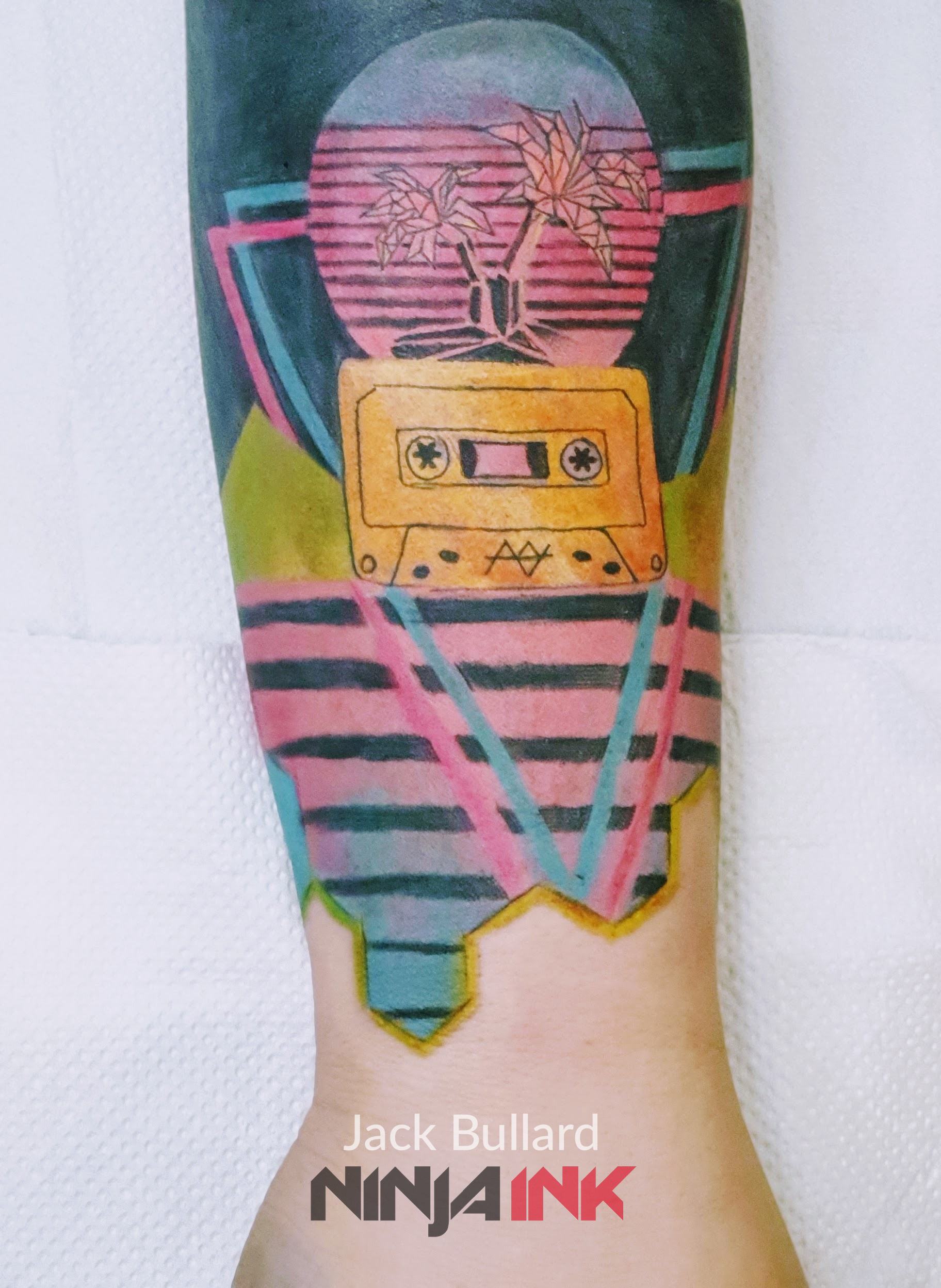 Retro wave Synth Tattoo