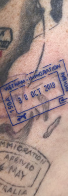 Vietnam Stamp passport tattoo