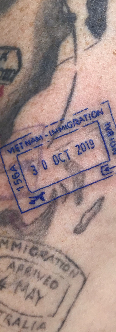 Passport Stamp Tattoo