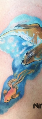Watercolor art tattoo