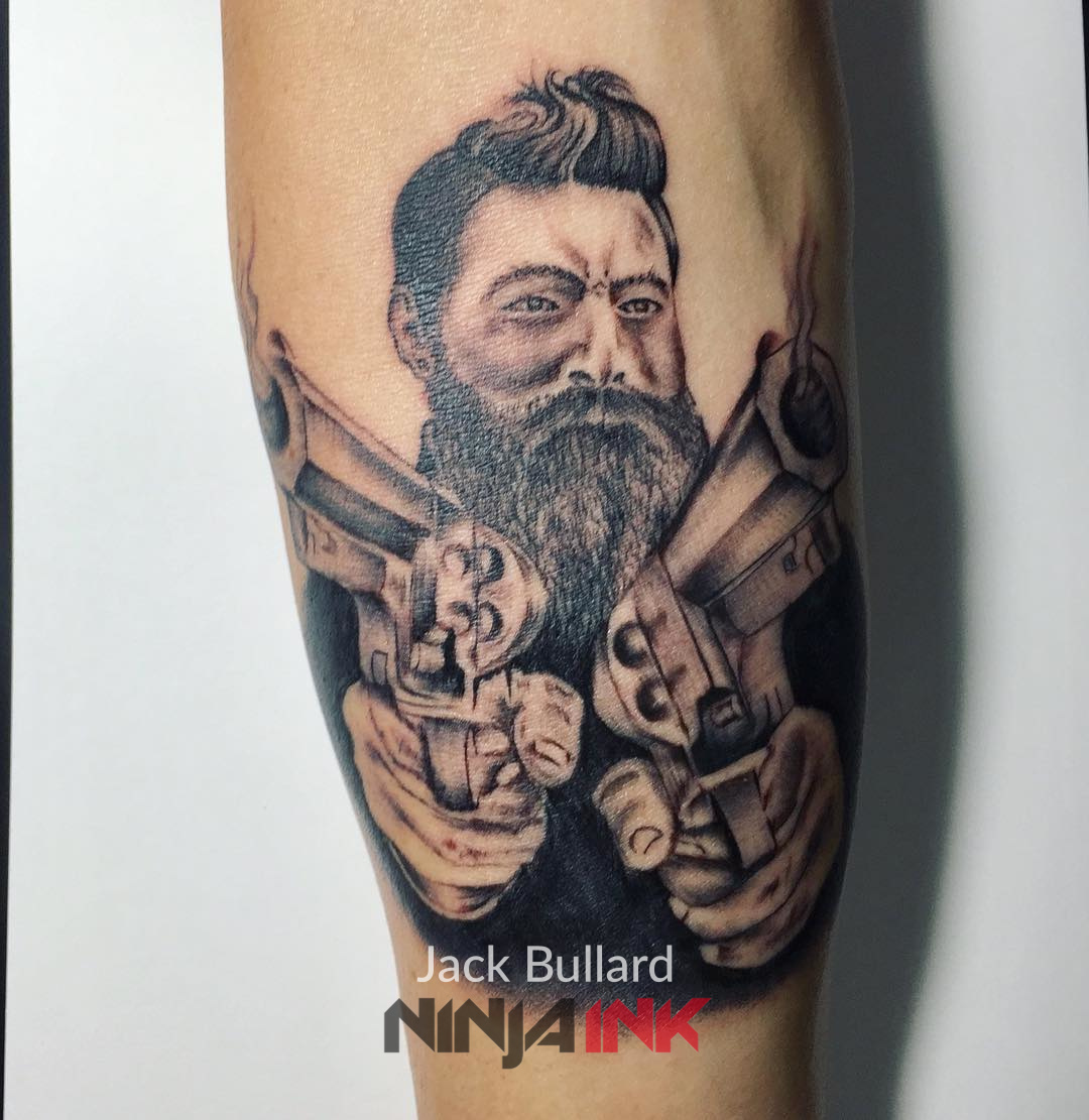 Ned Kelly Portrait Tattoo