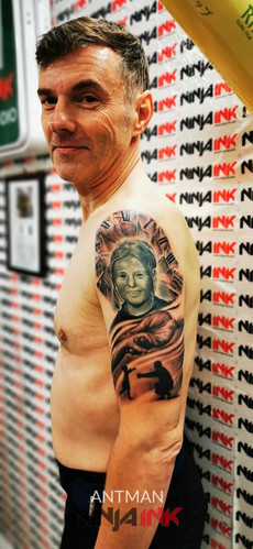 Black and Grey Portrait Tattoo