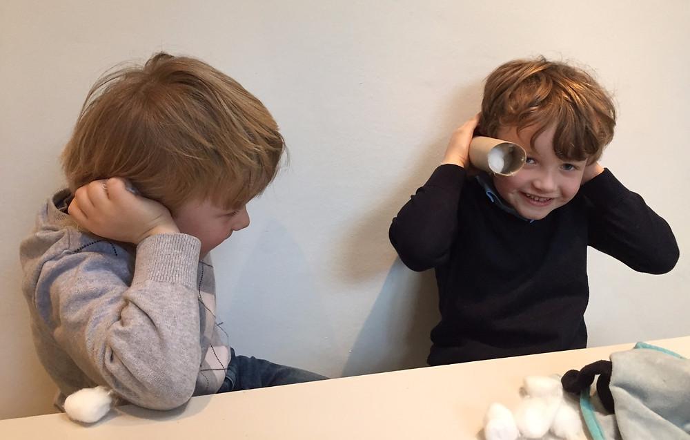 Ny experimentfilm på YouTube Isolera ljud - bNosy Enkla Experiment för Barn 22