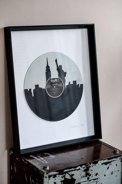 Découpe sur disque gris - Taille XL : 50x40cm