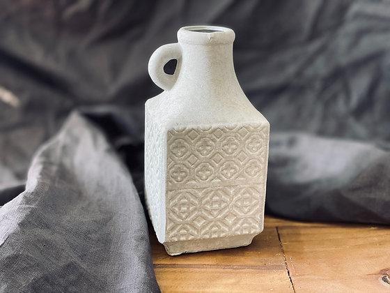 Jarra Chica Cemento con Textura