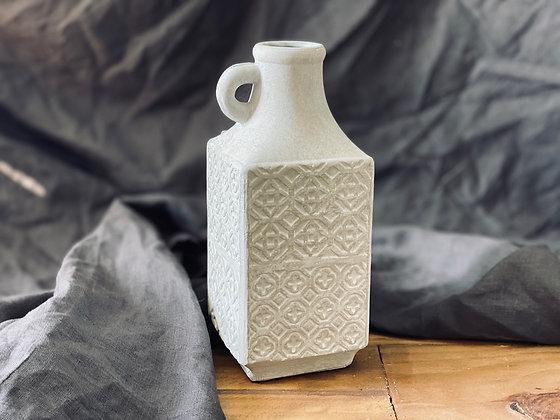 Jarra Grande Cemento con Textura
