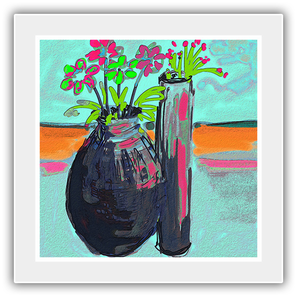 Flowers and Vases on the beach 7