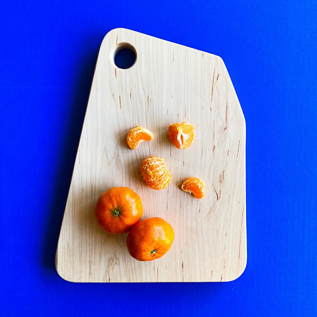 Modern maple cutting board