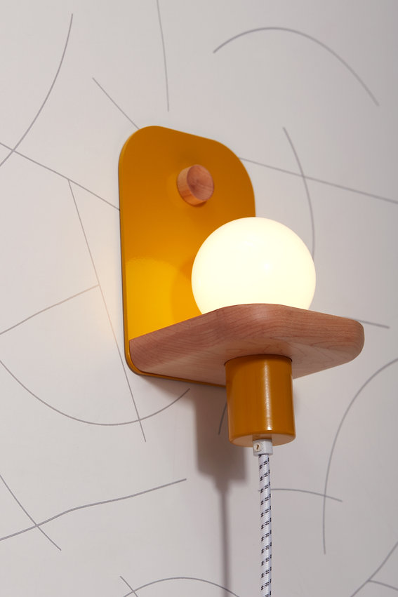 modern lighting, wall sconce, LED light fixture, handmade modern, wall light, plug-in sconce