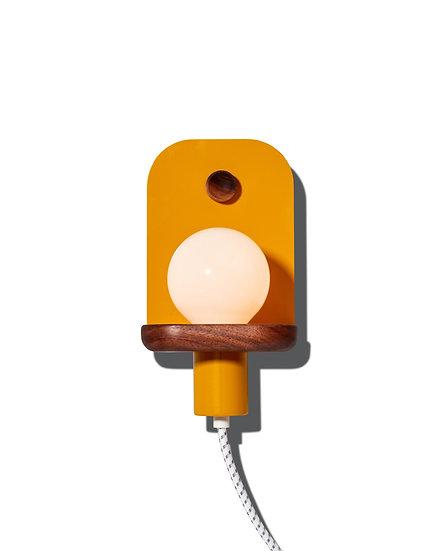 LED light, wall sconce, modern sconce, corded sconce, ochre