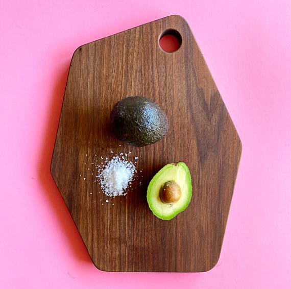 Modern walnut cutting board