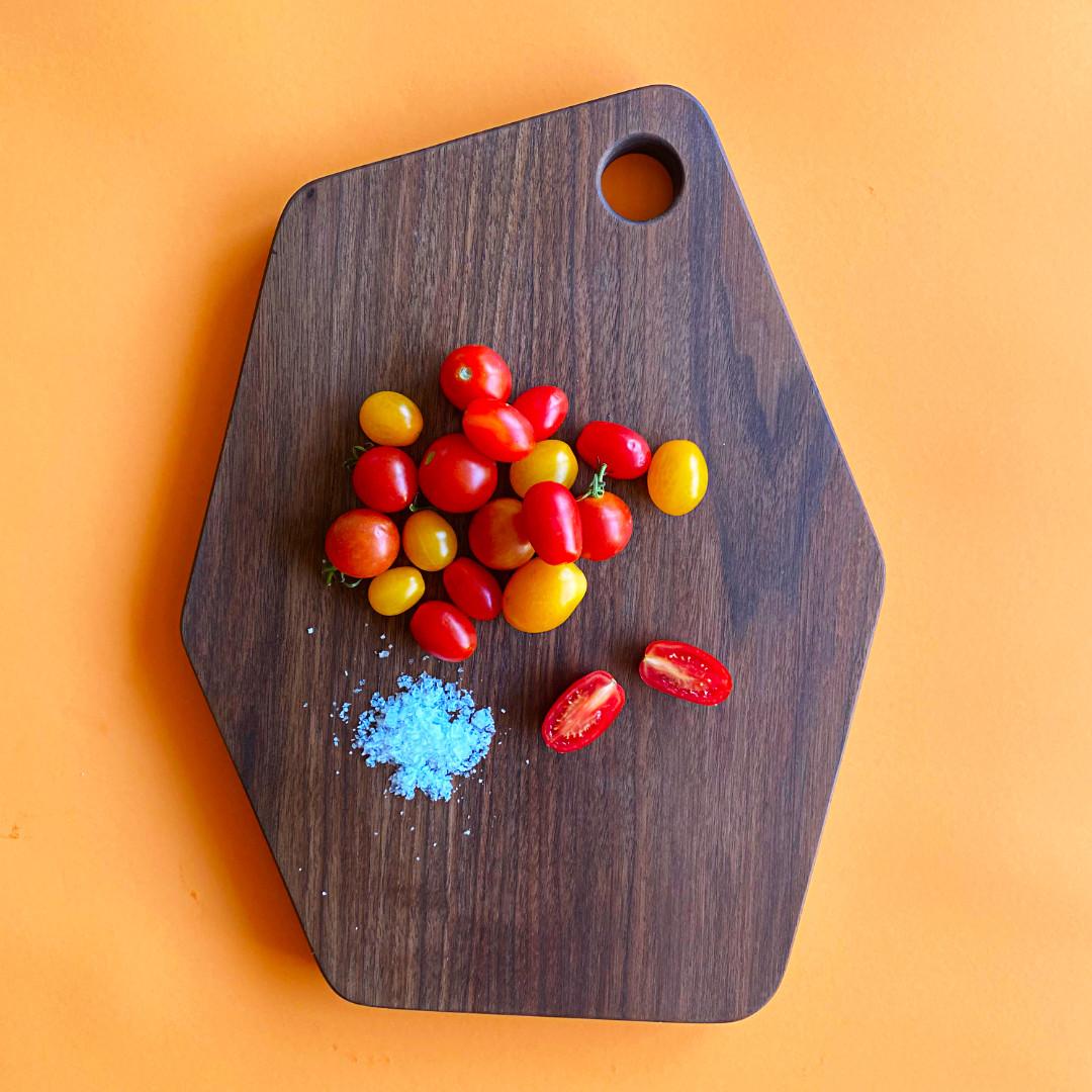 Modern walnut serving board