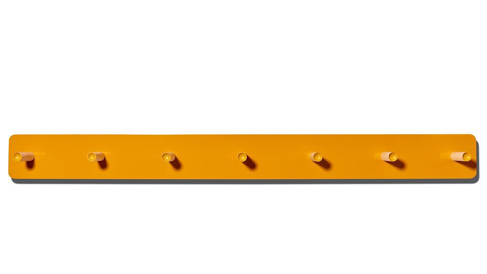 shaker, shaker peg rail, peg rail, modern shaker peg rail, modern peg rail, ochre, gold
