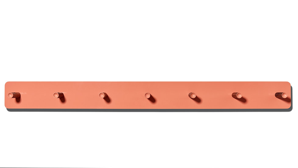 shaker, shaker peg rail, peg rail, modern shaker peg rail, modern peg rail, salmon, pink