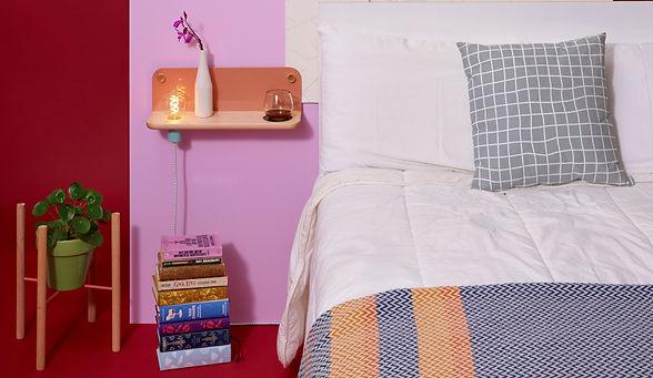 Minimalist wall shelf, modern wall shelf, modern shelving, handmade modern, shelf with light, entryway shelf, bedside table shelf