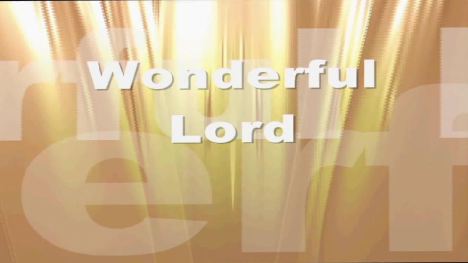 Wonderful Lord
