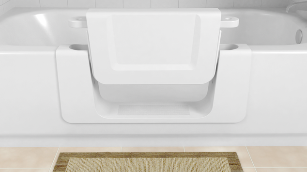 Bath conversion allows easy access for the elderly and mobility impaired