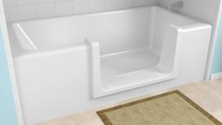 Accès facile au bain pour les personnes âgées