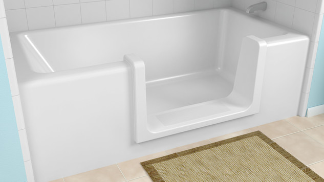 Easy entry to the bath for the elderly