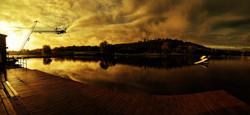 Thorpe Lakes at Sunset