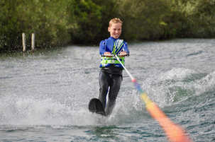 Learning to Waterski on one ski