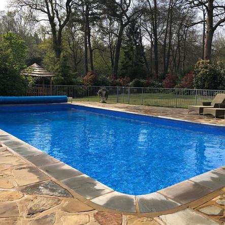 Beautiful blue pool