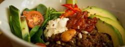 Healthly eating at Lakeside Brasserie