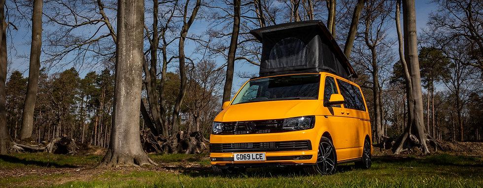 Yellow VW Campervan