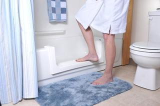 Convert bath to walk in shower