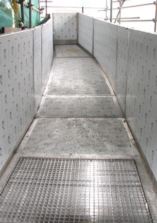 2012 Olympic Pool Rainwater Trough