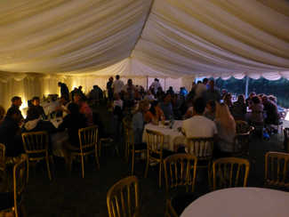Gourmet BBQ in the Marquee