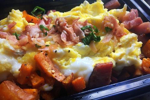 Potato Bacon N' Egg Hash