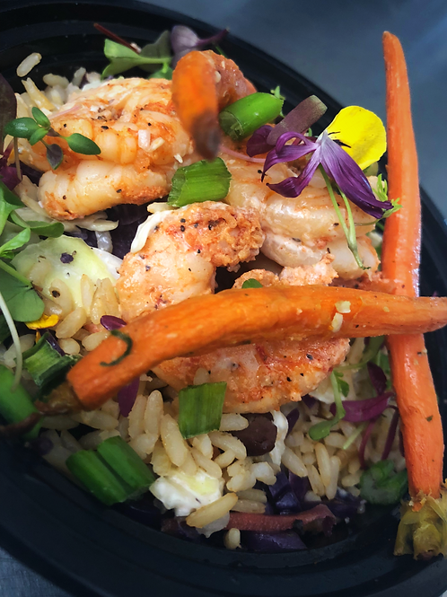 Shrimp Brown Rice N' Veggies