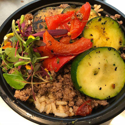 Mexican Bean Beef Bowl