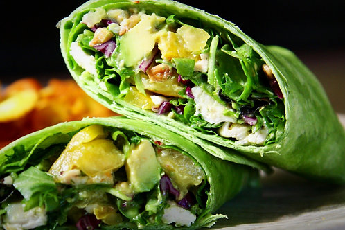 Lemon Avocado Chicken Wraps