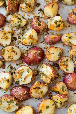 red potatoes herb