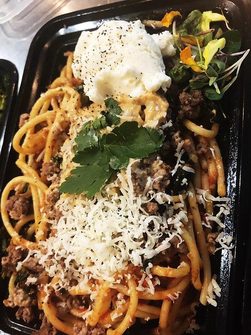 Keto Cheese Beefy Spaghetti