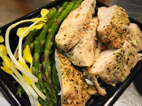 Grilled Chicken & Steamed Asparagus