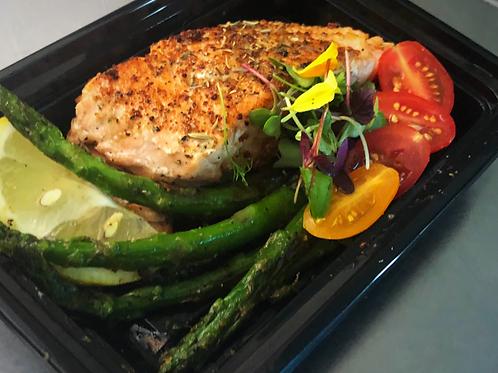 Classic Herb Salmon & Lemon Asparagus