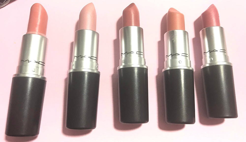 five shades of nude lipsticks for all skin tones by MAC cosmetics reviewed by beautifullyoriginal.com