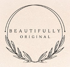 the logo for beautifullyoriginal.com in black on a pink background.